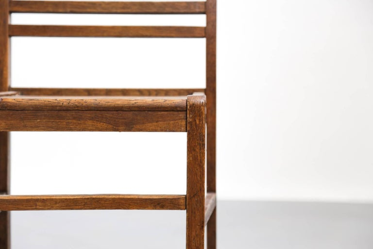 Set of Four Oak Dining Chairs, Rene Gabriel, 1940s For Sale 2