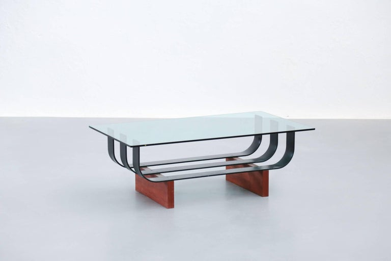 Sofa table tempered glass 1960s coffee table for sale at for Tempered glass coffee table