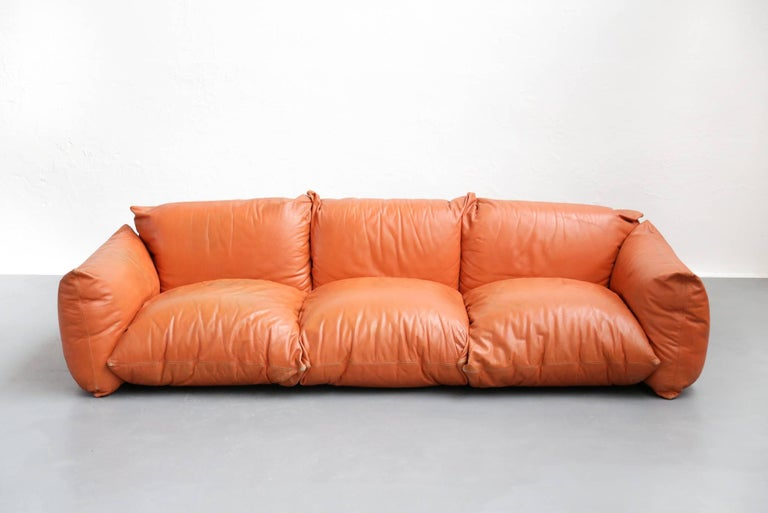 Italian Sofa Mario Marenco for Arflex, 1970s, Midcentury For Sale