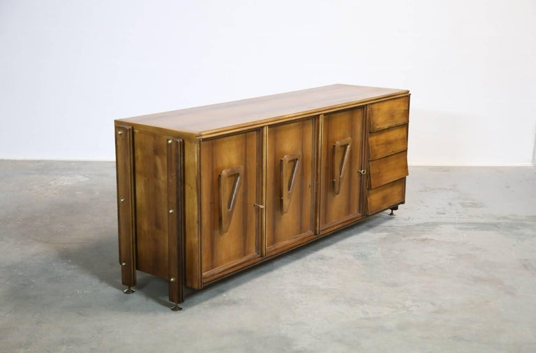 Italian Rosewood Sideboard, 1960s For Sale 4