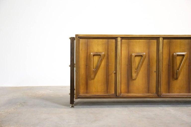 Mid-Century Modern Italian Rosewood Sideboard, 1960s For Sale