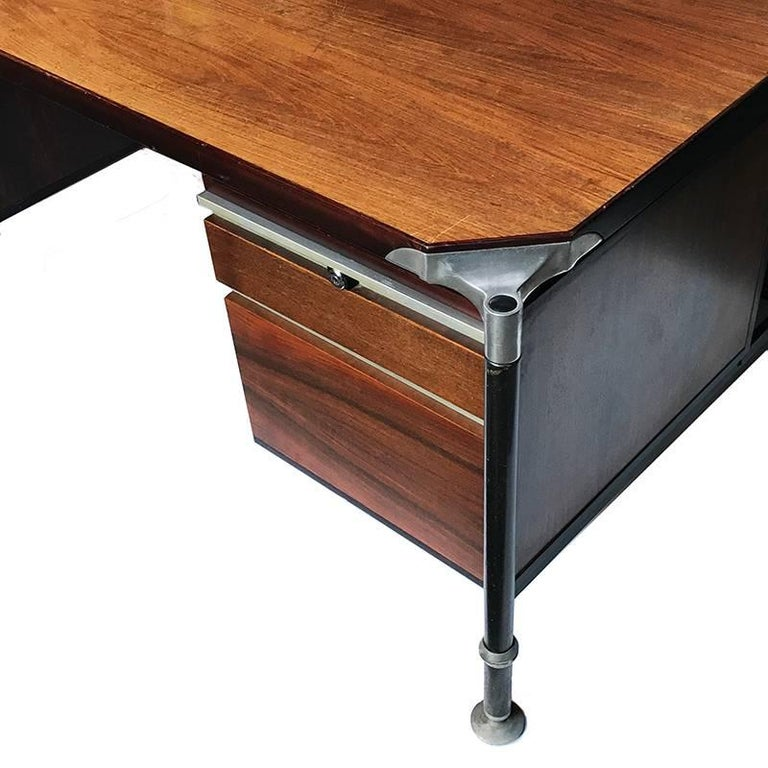 Ico Parisi for MIM Roma, Desk Rosewood Executive, Italy, Mid-Century 1950s For Sale 2