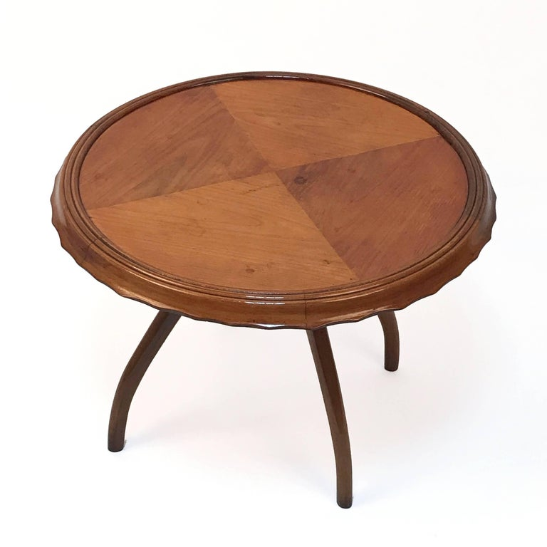 1940s Midcentury Osvaldo Borsani Coffee Table Centre Table, Italian Design For Sale 1