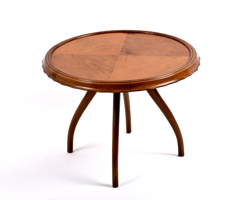 20th Century 1940s Midcentury Osvaldo Borsani Coffee Table Centre Table, Italian Design For Sale