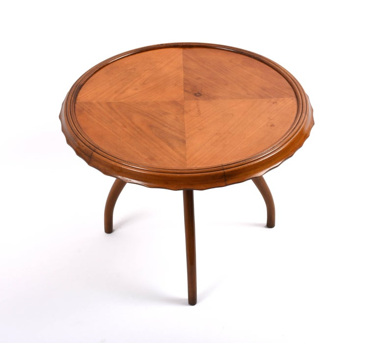 1940s Midcentury Osvaldo Borsani Coffee Table Centre Table, Italian Design In Good Condition For Sale In Roma, IT