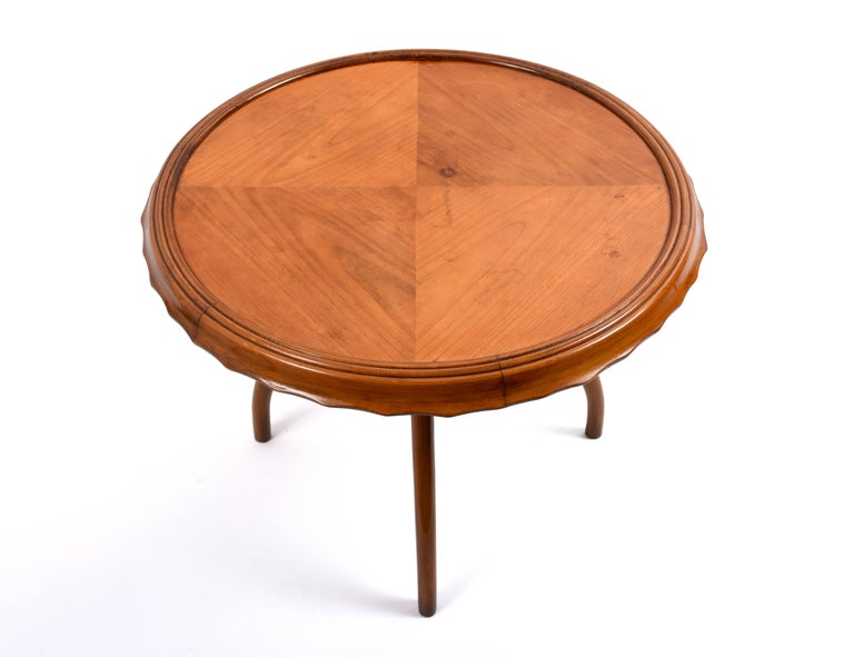 Wood 1940s Midcentury Osvaldo Borsani Coffee Table Centre Table, Italian Design For Sale