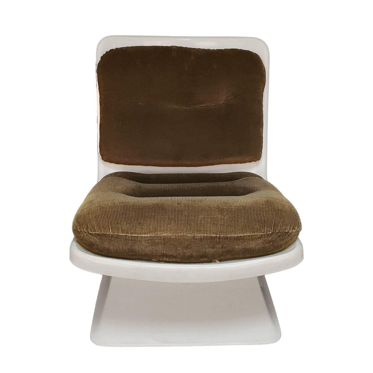 20th Century French Design Pair of Lounge Chair by Albert Jacob Grosfillex Space Age, 1970s For Sale