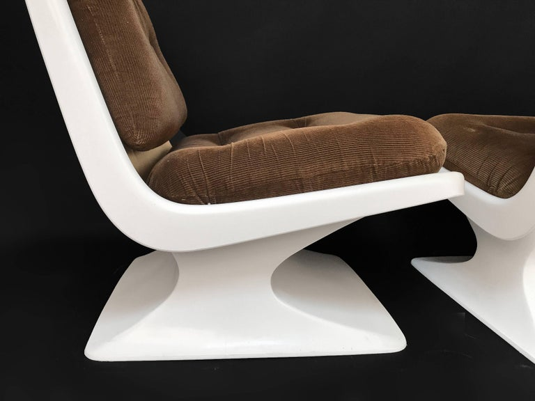 French Design Pair of Lounge Chair by Albert Jacob Grosfillex Space Age, 1970s For Sale 1