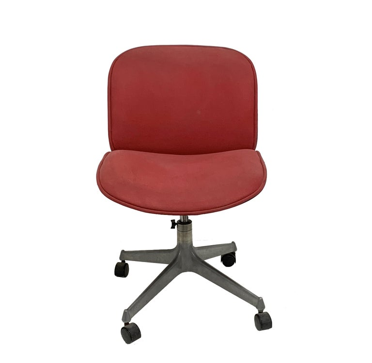 Ico & Luisa Parisi for MIM, Swivel Office Chair, M.I.M. Italy 1950s Swivel Chair