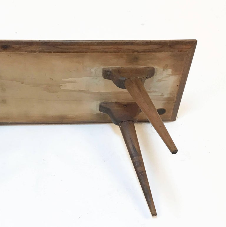 Low coffee table for living room. Printed wood. Attributable to De Poli Italy  For Sale 10