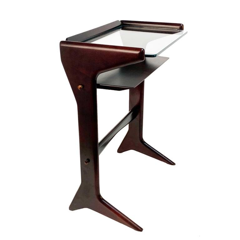 Ico Parisi for A. De Baggis  Italian Magazine Table, Mahogany wood, Italy, 1950s