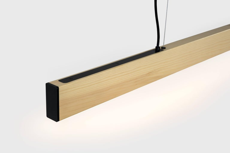 American 2x4 Pendant in Natural Pine For Sale