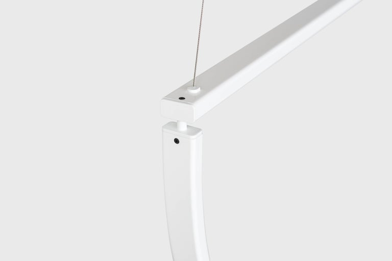 Chord Chandelier in White by Alexallen Studio In New Condition For Sale In Brooklyn, NY