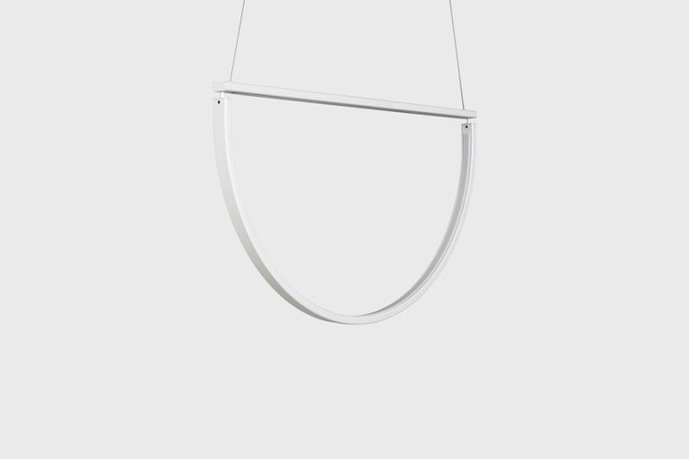 American Chord Chandelier in White by Alexallen Studio For Sale
