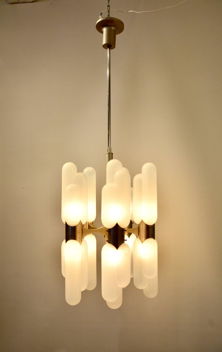Carlo nason chandelier model torpedo 1960s for sale at 1stdibs opaline glass carlo nason chandelier model torpedo 1960s for sale aloadofball