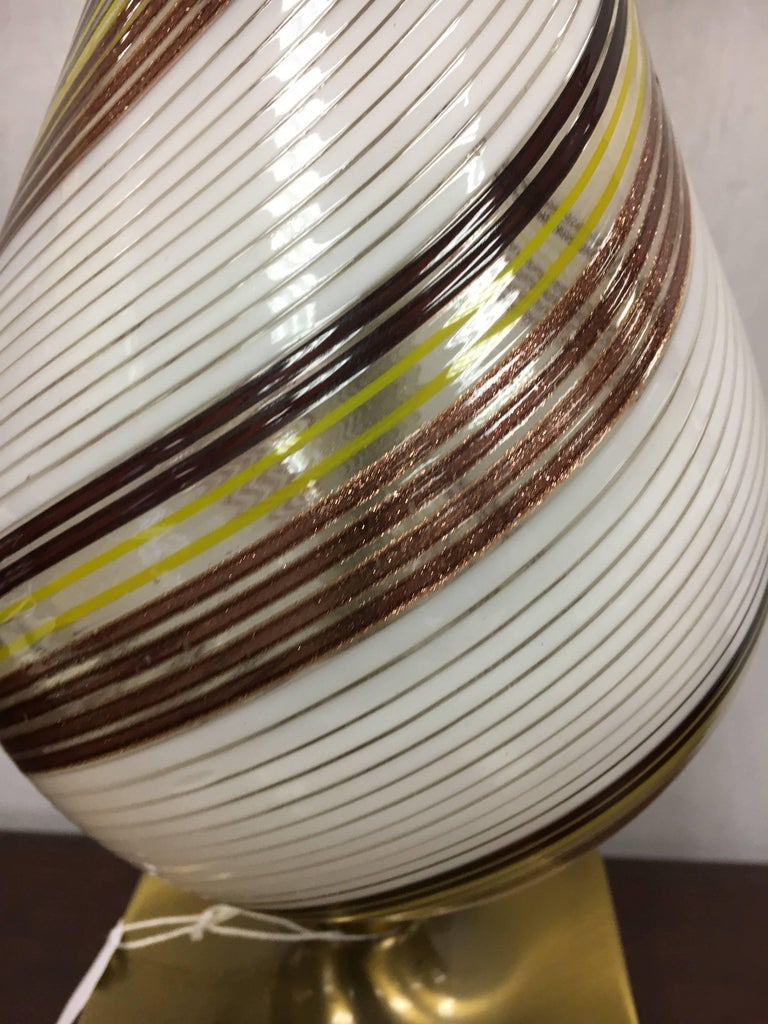 Mid-20th Century Midcentury Venetian Glass Murano Table Lamp For Sale