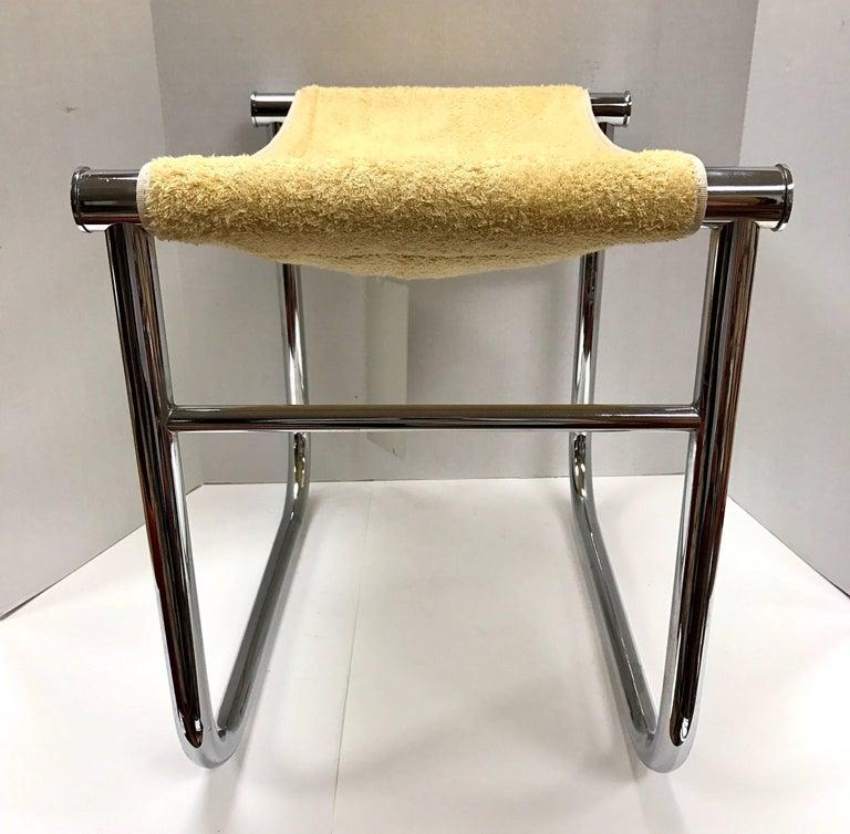 Cassina Le Corbusier Chrome Bathroom Stool For Sale at 1stdibs