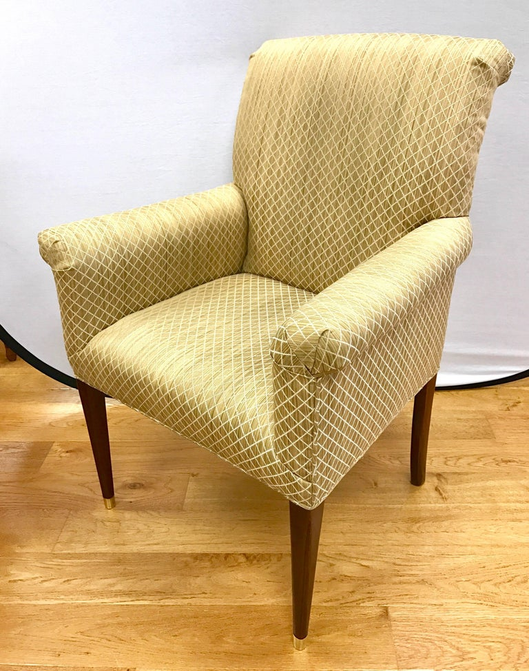 Set Of Four Baker Milling Road Gold Upholstered Armchairs