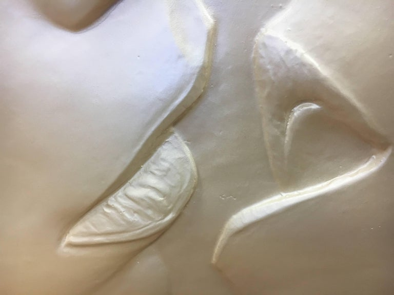 20th Century The Kiss Original Signed Sculpture Relief, Figler, 1990 For Sale