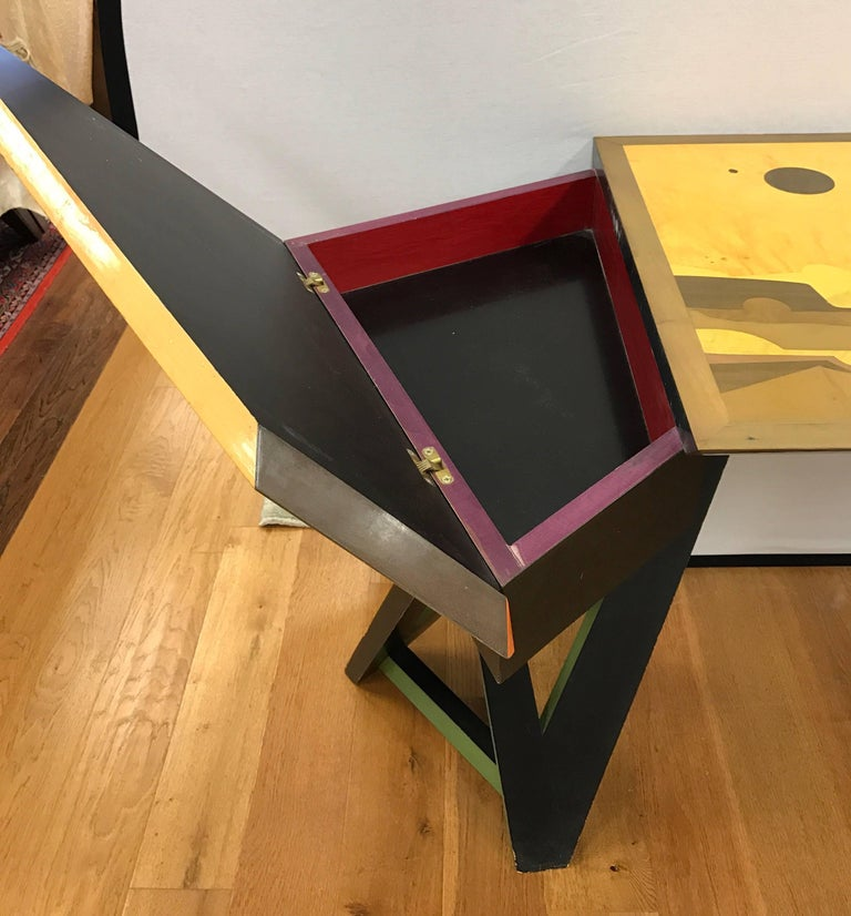 Post Modern Desk Signed Christophe Masson NYCTIPAO Odyssee