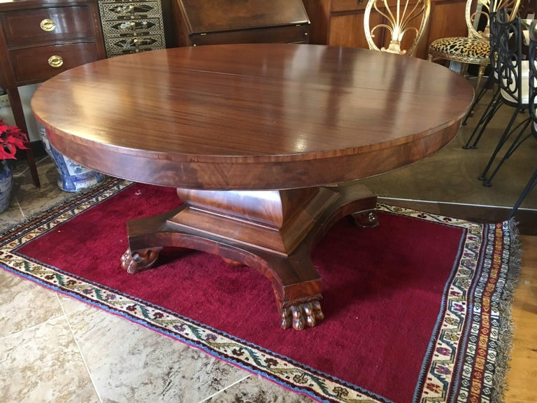 antique english regency mahogany round dining table for sale at 1stdibs. Black Bedroom Furniture Sets. Home Design Ideas