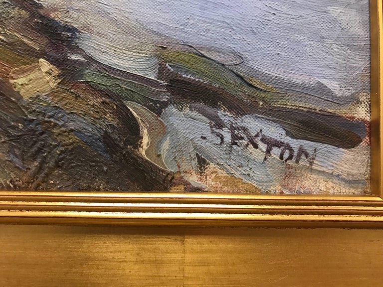 New England Oil Painting by Frederick Sexton Signed  In Excellent Condition For Sale In West Hartford, CT