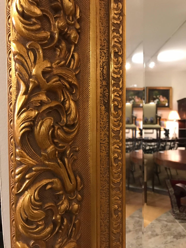 Labarge Ornate Gold Giltwood Full Length Floor Mirror