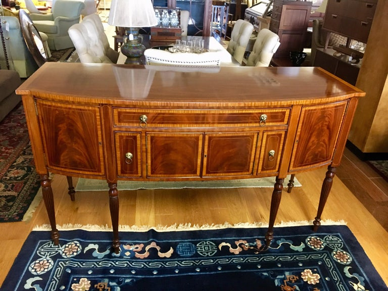 North American Maitland Smith Flame Mahogany Buffet Server Sideboard Credenza Cabinet For Sale