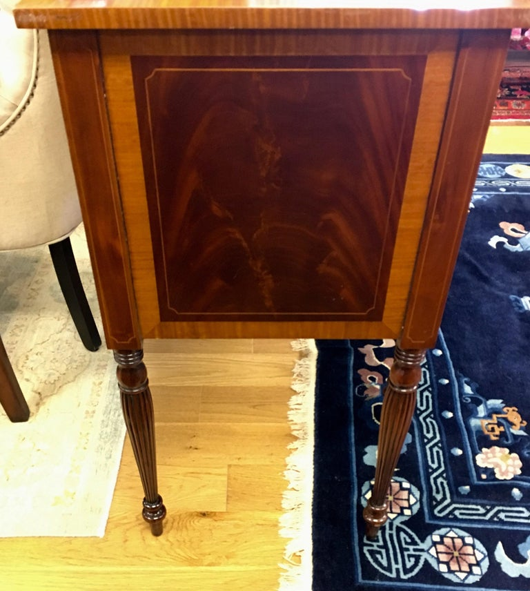 Maitland Smith Flame Mahogany Buffet Server Sideboard Credenza Cabinet For Sale 2