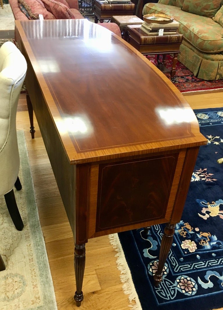 Maitland Smith Flame Mahogany Buffet Server Sideboard Credenza Cabinet For Sale 3