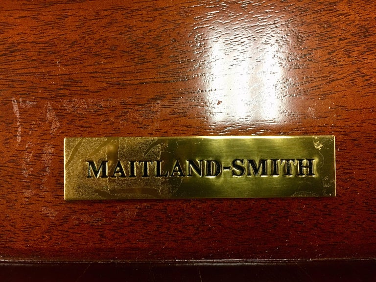 Maitland Smith Flame Mahogany Buffet Server Sideboard Credenza Cabinet For Sale 5