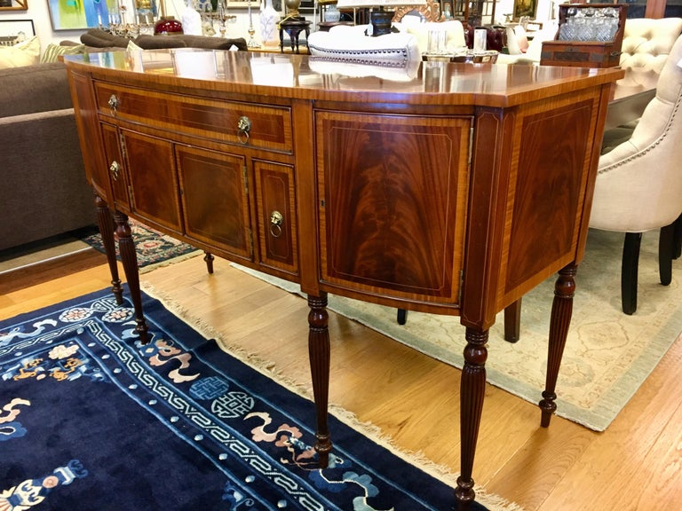 Maitland Smith Flame Mahogany Buffet Server Sideboard Credenza Cabinet For Sale 7