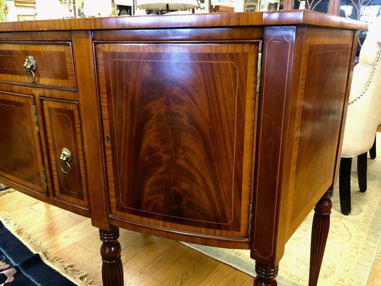Maitland Smith Flame Mahogany Buffet Server Sideboard Credenza Cabinet For Sale 8