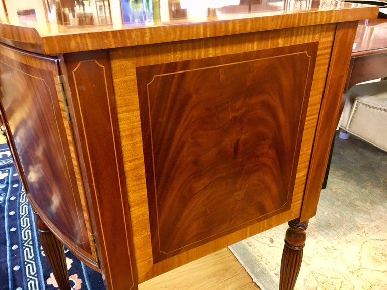 Maitland Smith Flame Mahogany Buffet Server Sideboard Credenza Cabinet For Sale 9
