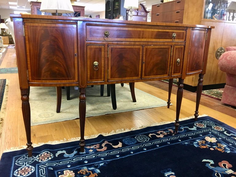 Maitland Smith Flame Mahogany Buffet Server Sideboard Credenza Cabinet For Sale 13