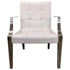 Set of Four Monseigneur Philippe Starck for Driade Italy White Chairs Armchairs