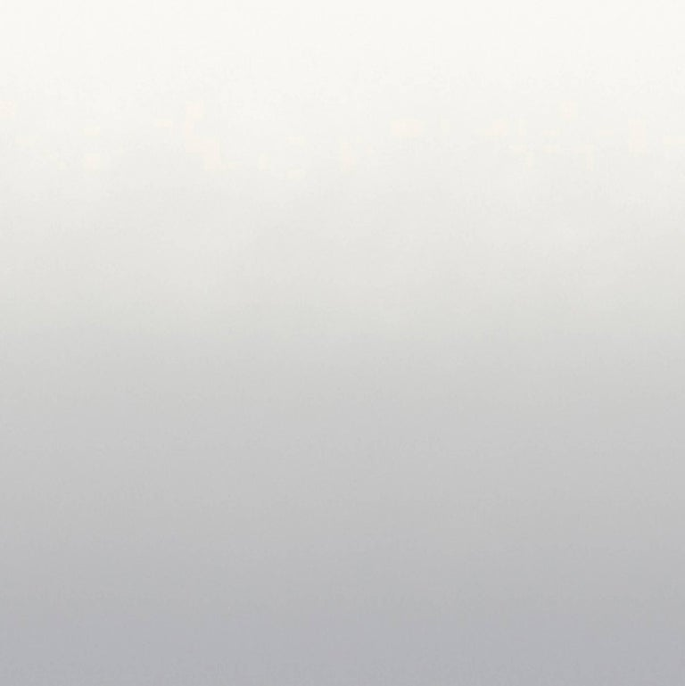 Aurora Mist Wallpaper in Grey to White Gradient