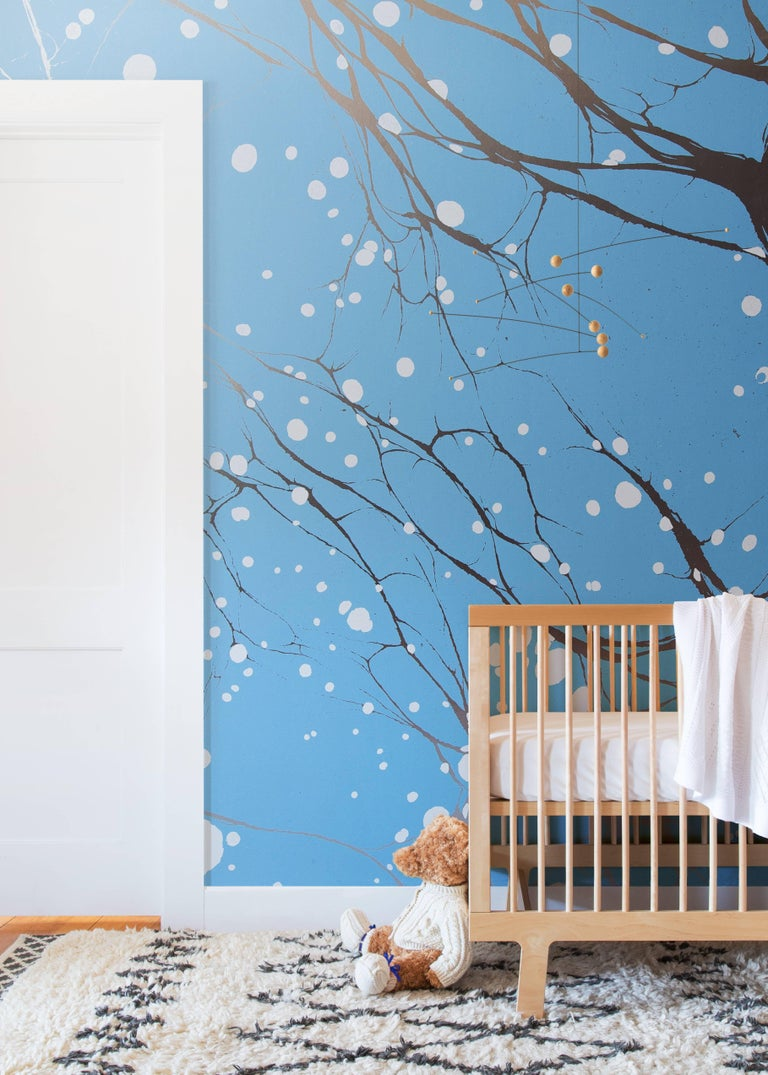 All of our wallpapers are priced by the square foot and are non-repeating custom murals. As a result, each order is laid out and printed to fit the exact dimensions of your wall. The Willow collection is printed on a commercial grade type II silver