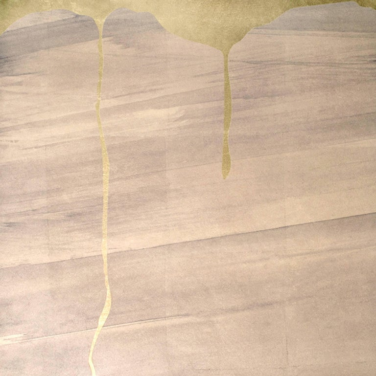 Satori Plateau Wallpaper or Wall Mural in Worn Beige on Dutch Leaf For Sale