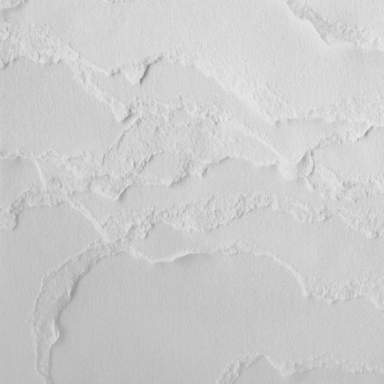 Snarkitecture Topographies Winter Wallpaper in Matte Snow