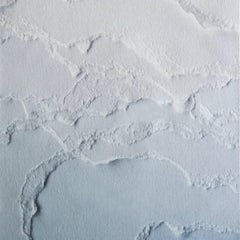 Snarkitecture Topographies Glacier Wallpaper in Matte Blue Gradient