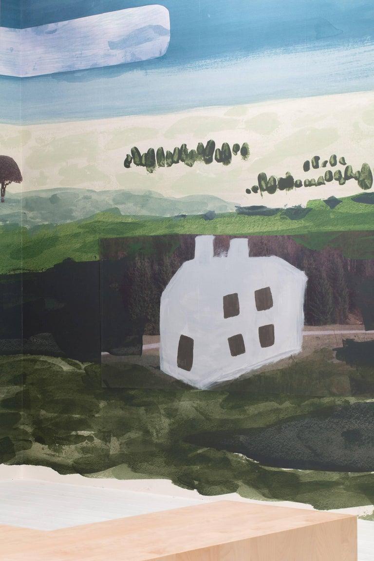 Modern Faye Toogood Woodlands, Fields, Moors in Fields Wallpaper For Sale