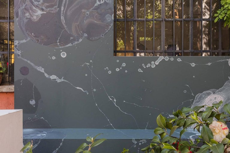 Modern BCXSY Microcosmos Umbra Wallpaper or Wall Mural in Matte Bubbles For Sale
