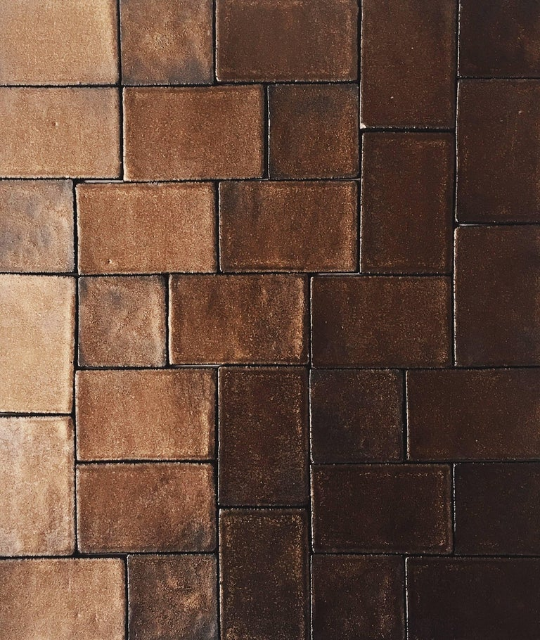Bronze Metallic Glazed Handmade Ceramic Tile For Sale At Stdibs - Custom cut ceramic tile