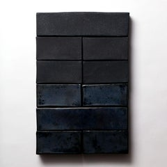 'Hexagram 4' Ceramic Wall Hanging in Matte and Glossy Black