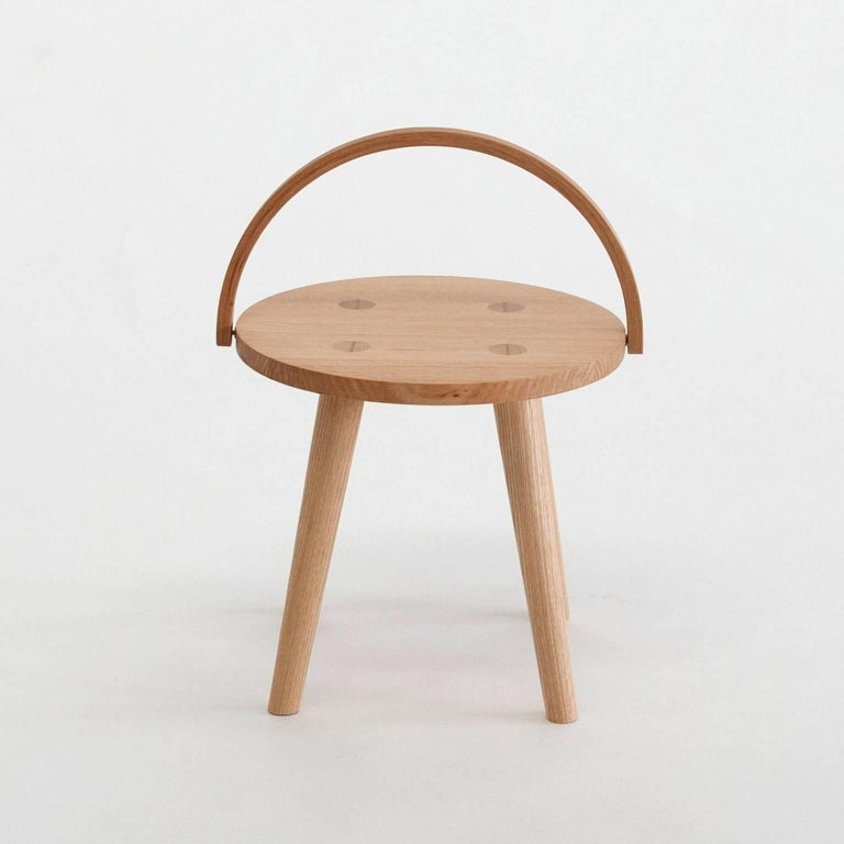 Step Bucket Stool Low Seat Or Side Table With Bentwood