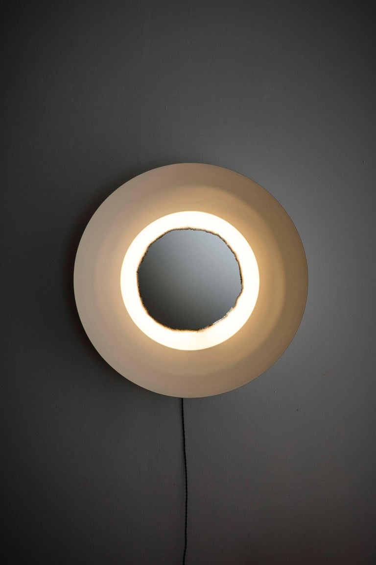Modern Curved Light Wall Sconce, Powdercoated For Sale