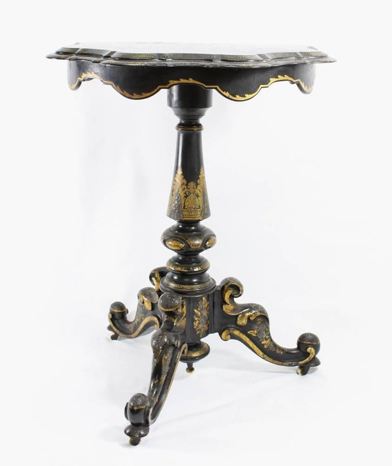 Japanned Gilt Lacquered Games Table For Sale at 1stdibs : IMG51391stmaster from www.1stdibs.com size 768 x 911 jpeg 48kB