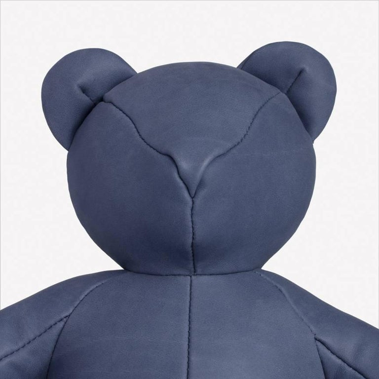 Maharam Bear by Pin-up 003 Harbor  Initially created for Pin–up's Fall/Winter 2016/2017 issue, the Bear is handmade by a small-scale Canadian producer from Loam, a high-quality Italian nubuck with a matte, velvety surface that's one of nine Maharam