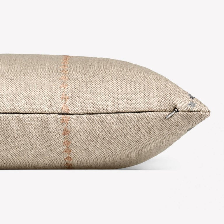 Maharam Pillow Borders by Hella Jongerius 001 Natural  Borders stems from Hella Jongerius's interest in traditional Central American backstrap weaving, in which the loom is tethered between the weaver's body and a tree or post. Because backstrap